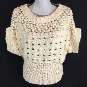 Forever 21 Pullover Open Knit Sweater Crocheted